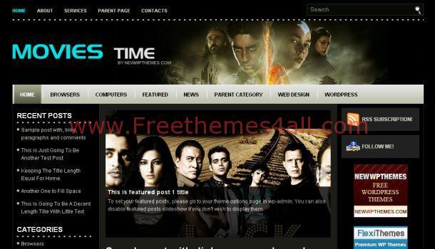 Free Black Cinema Movies Wordpress Theme Download