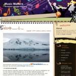 Purple Black Blogger Music Theme