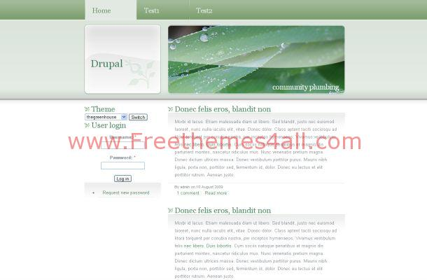Ecology Nature Green Drupal Theme