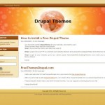 Clean Simple Orange Drupal 6 Theme