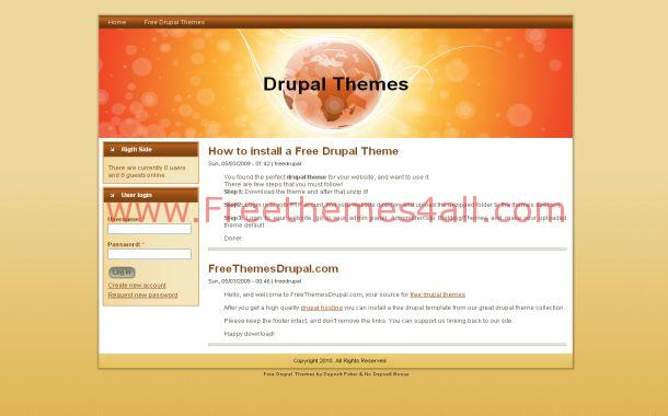 Clean Simple Orange Drupal 6 Theme