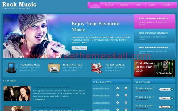 Pink Blue Music PSD Template