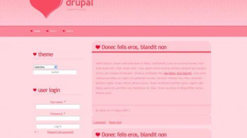 Valentine Day Pink Drupal Theme