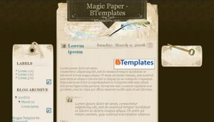 Free Magic Dark Brown Blogger Template