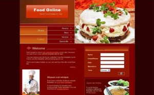 Dark Red Restaurants PSD Template