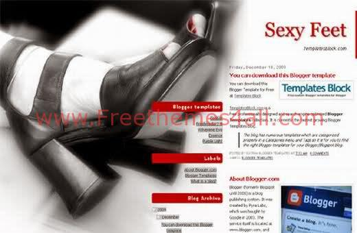Sexy Red Fashion Blogger Template