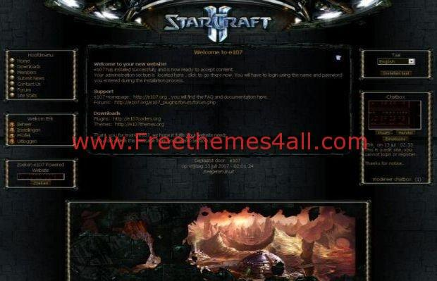 E107 Starcraft Theme Free