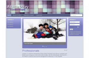 Free Business Blue Joomla Violet Theme