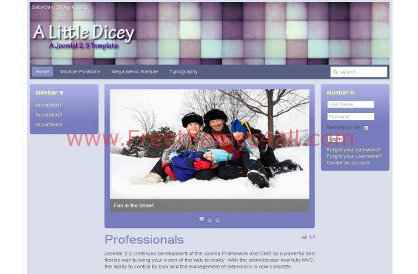 Free Business Blue Joomla Violet Theme Download