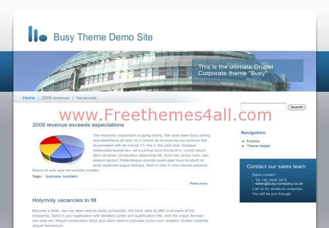 Blue White Business Drupal 7 Theme