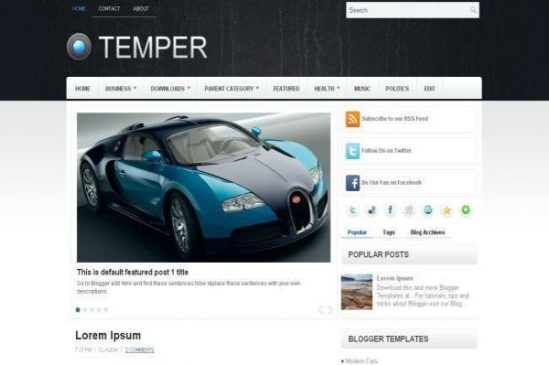 Clean Car Magazine Blogger Template
