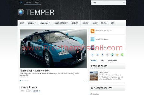 Clean Car Magazine Blogger Template