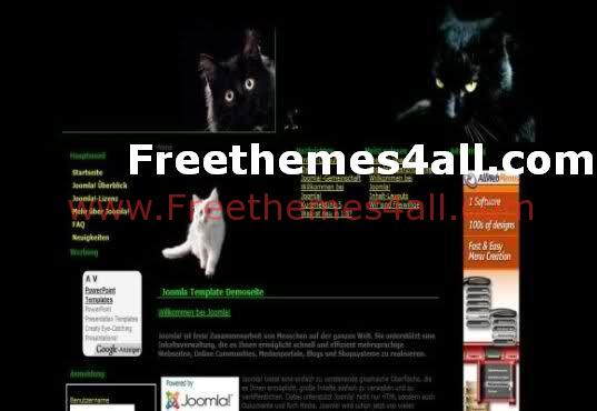 Black Cats Joomla Template Download