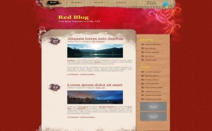 Red Floral CSS Website Template