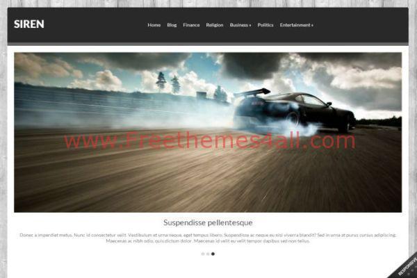 Free Responsive Portfolio Wordpress Theme