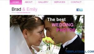 Wedding Sexy Pink CSS Template