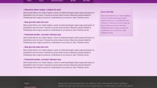 Free Pink Online Wiki CSS Template