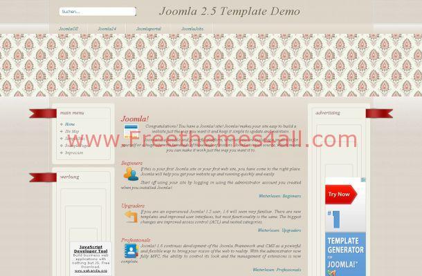 Floral Art Grunge Joomla Template