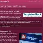 Girls Compact Dark Pink Blogger Template