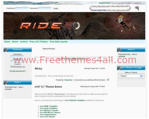 Free Grunge Chrome Bike E107 Theme
