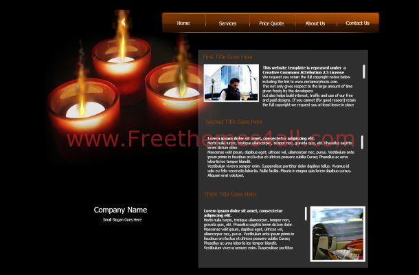 Black Fire Flash Template Theme