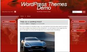 Free Abstract Red Fire WordPress Theme