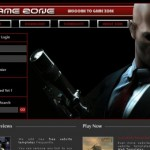 Free Dark Black Games Website Template