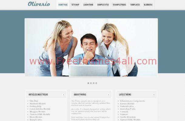 Light Blue Business Free Joomla Theme