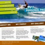 Brown Sea Surf Website Template