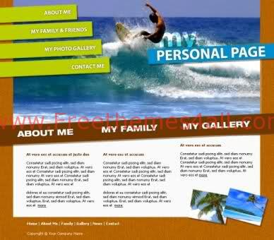 Brown Sea Surf Website Template