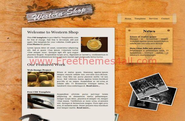 Grunge Wooden CSS Template Theme