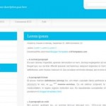 Adornment Blue Web2.0 Blogger Template