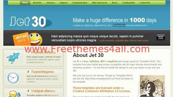 Free CSS Xhtml News Website Template