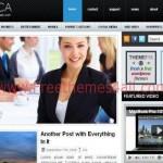 Simple Gray Blue Business Wordpress Theme