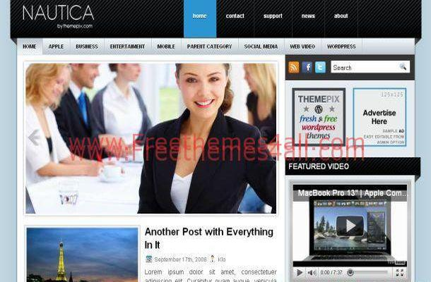 Gray Blue Business WordPress Theme