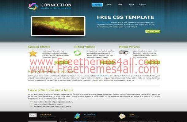 Connection Blue Portfolio Website Template