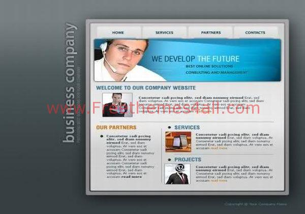 Web Development Flash Template