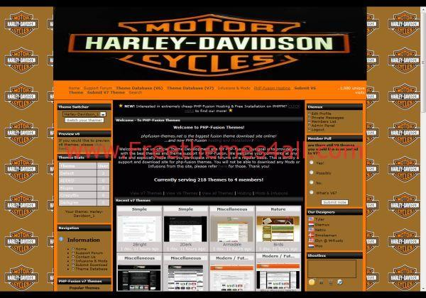 Harley Orange Phpfusion Theme