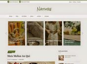 Responsive Green Nature Blogger Template