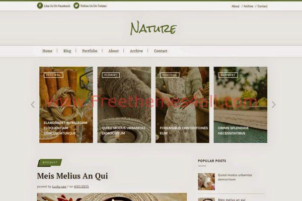 Free Green Nature Blogger Template