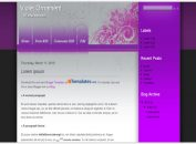 Grunge Flowers Violet Blogger Template
