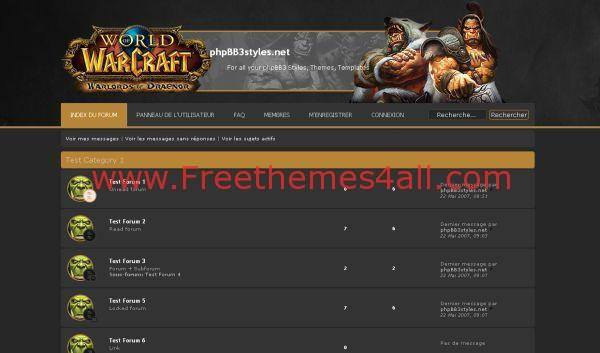 WOW Warcraft Phpbb Style