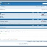Simple White Blue Phpbb Style