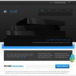 Dark Black CSS Template Download