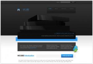 Dark Black CSS Template Download
