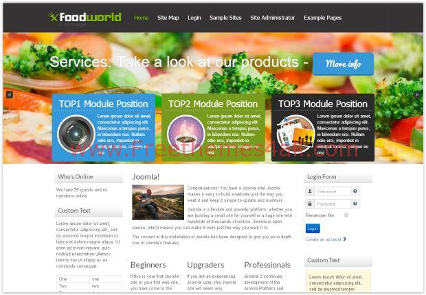 Responsive food joomla 3 template download responsive food joomla 3 template forumfinder Images