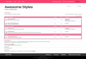 White Girly Pink Phpbb Style