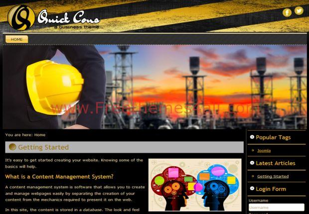 Quick Cons Yellow Black Joomla 3 Template
