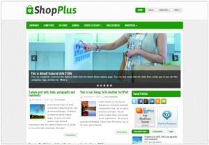 Green Shop Store WordPress Theme