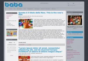 Baba Blue Simple E107 Theme